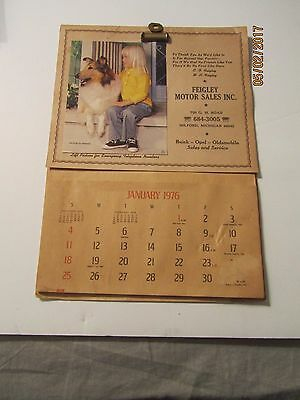 Vintage 1976 Feigley Motor Sales inc Buick-Opel-Olds Milford Mich Wall Calendar
