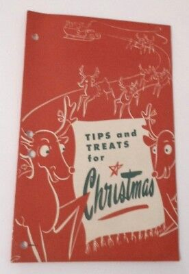"""Vintage Christmas Pamphlet Skelgas Natural Gas Co. """"Tips & Treats for Christmas"""""""