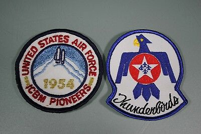 US Vietnam Air Force 1954 ICBM Pioneers and Thunderbirds 2 Patch Lot. NA138