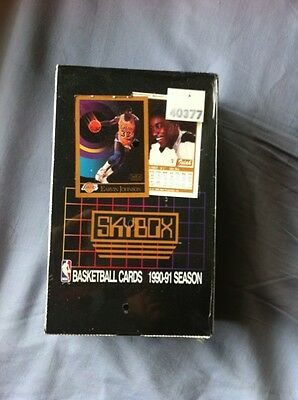 New Old Stock Vintage Baskteball Cards Debut 1991 Skybox Sealed Box 36 Wax Packs