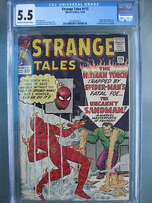 Strange Tales #115 CGC 5.5 Unrestored **Origin Dr. Strange** Marvel Comics 1963