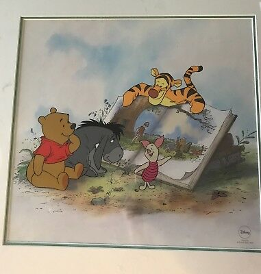Disney Winnie the Pooh and story time too limited edition sericel.