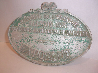 Antique French Expo Festival Sign Metal  Great Patina  @ No Reserve