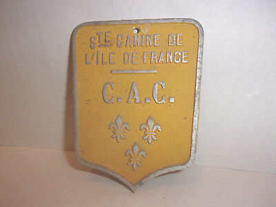Vintage Antique Canine French Sign  * No Reserve!