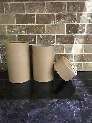 10 x Butt Jointed Cardboard Tubes (Brown Kraft)