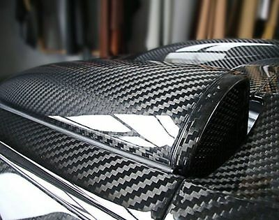 3D 4D 5D 6D Glossy Carbon Fiber Wrap Vinyl Decal Film Sticker Air Release