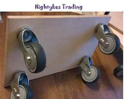 "Trolley Dolly wood 400 x 600 rubber 5"" castors moving truck furniture mover"