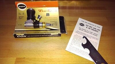 New Cox Tee Dee .09 Model Airplane Engine 1/2A 1974