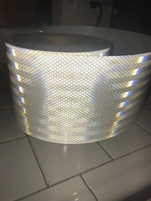 "3M 3430 White Reflective Tape 6"" width 8ft"