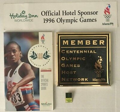1996 OLYMPIC COLLECTIBLES LOT HOLIDAY INN and OLYMPIC SPIRIT BOOK