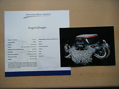 Gauloises Prost Peugeot AP 03 official press information F1 2000; engine docs