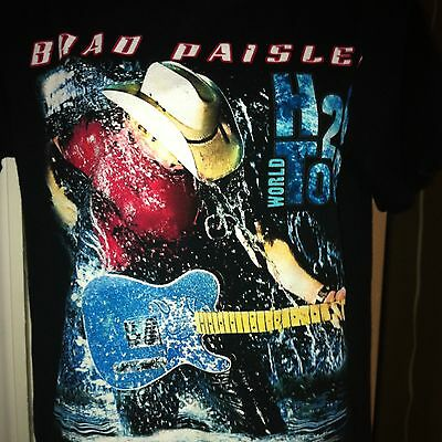 BRAD PAISLEY 2010 H2O World Concert Tour T-SHIRT Tee S Small Country Music