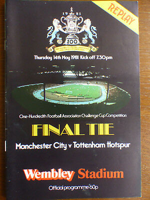 FA Cup Final Programme - Manchester City v Tottenham Hotspur - May 1981 - Replay