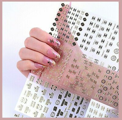 ❤️nouveau Nail Art Stickers Marque Logo Water Decal Bijoux Ongles Manucure