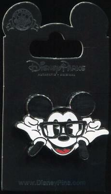 New Cute Pie Eyed Mickey Mouse Putting on Glasses with Smile Disney Pin