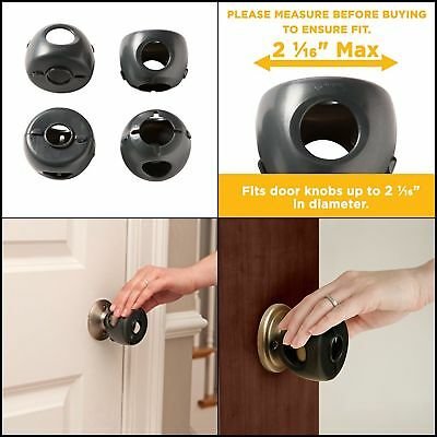 QUALITY Door Knob Safety Covers Decor Toddler Guard Easy to Install,4-Count NEW
