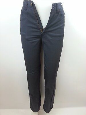 Vintage Versace Jeans Couture Womens Satin Finish Jeans 27 Made in Italy Cotton