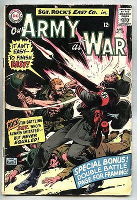 Our Army At War #157-1965 gd/vg Sgt. Rock Sgt Joe Kubert