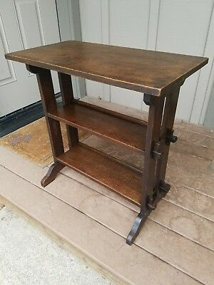 ROYCROFT OAK BOOKSHELF Arts & Crafts Mission Stickley Era Antique