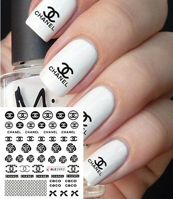 ❤️Nouveau (50)Stickers Logo Marque Bijoux Ongles Water Decals  Nail Art Manucure