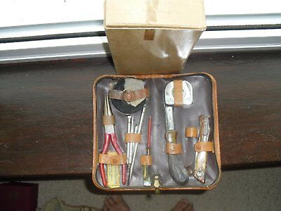 Vintage Deluxe Handymans Boxed / Cased Tool Kit c1960's,