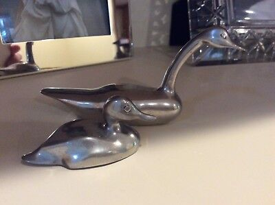 Jim Marsh, Signed & Numbered, Low Country Pewter Ducks - x2