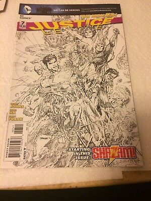 Justice League #7 (New 52) Jim Lee Sketch Variant Cover Free Shipping