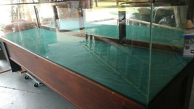 Wood Glass Front General Store Counter Display Cabinet 8' w/Marble Feet