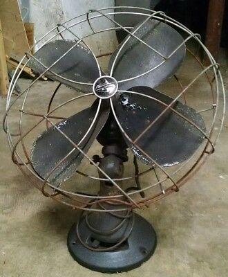 "Antique Emerson Electric 16"" fan 3 speed untested 79648-AP-G all hardware intact"
