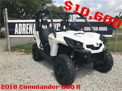 2018 Can-am Commander 800R  0 White  800 Automatic