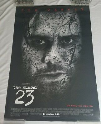 "2007 The number 23 DS 27x40"" Movie Poster 1 sheet Jim Carrey Horror"