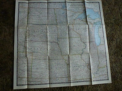 Vintage National Geographic Magazine Map North Central United States 1948