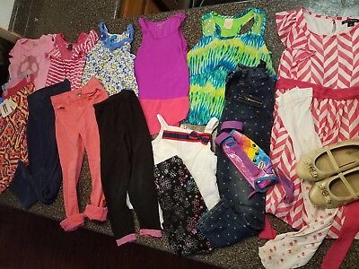 NWT+ huge lot youth Girls clothes shoes Michael kors gymboree JUSTICE sz 6/6x 7