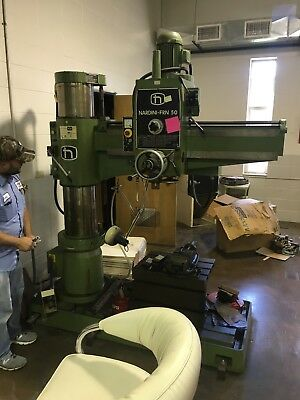 Nardini FRN 50 Radial Arm Drill box table vise