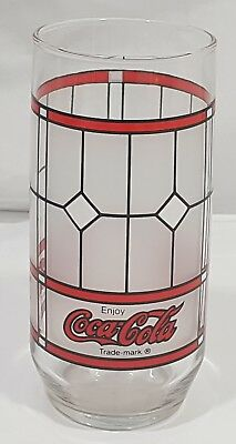 """Lot of 2 Coca Cola White Frosted Glass 6"""" Tall"""