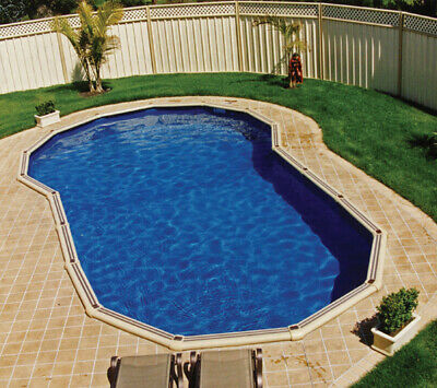 Keyhole Shape Pool Liner for Sterns 10m x 4.8m Pool, Replcement Pool Liner - ...