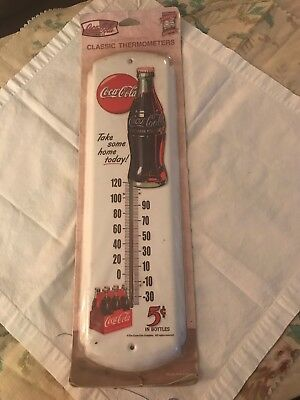 Vintage Coca Cola Classic Take Some Home Today Thermometer NIP