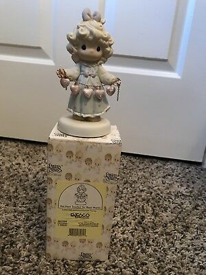"""Precious Moments """"you have touched so many hearts"""" porcelain figurine orig box"""