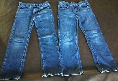 2 Pair of Boys Nautica Blue Jeans Size 10 Straight fit, less water more style