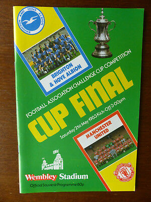 FA Cup Final Programme - Brighton & Hove Albion v Manchester Utd - 21st May 1983
