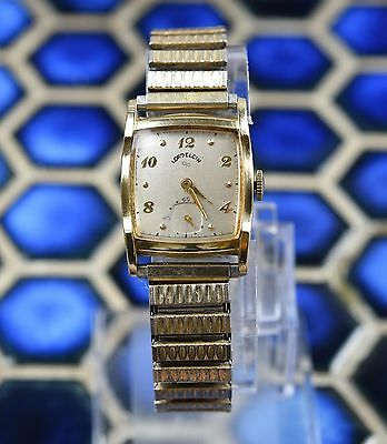 *Very Rare* Vintage Lord Elgin Men's 14K Gold Filled Fancy Case 556 Manual Watch