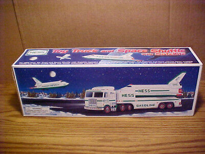 1999 HESS TOY TRUCK and SPACE SHUTTLE with SATELLITE - New - Mint In The Box