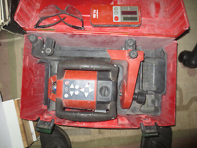 Hilti PR 25 IF W/ PA 350 Laser Detector Rotating Laser Level Works great w case