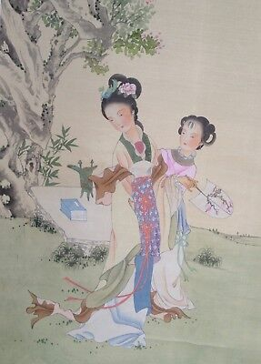 Chinese Republic Era Scroll Painting of Imperial Beauty