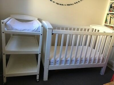 Cot, Mattress And Change Table