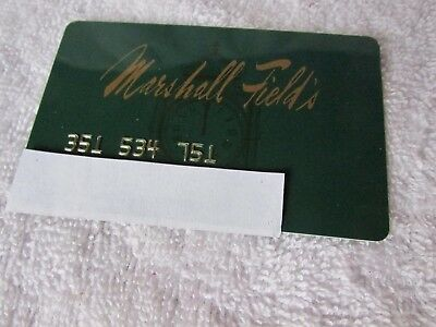 Marshall Field's 1980's Credit Card Vintage Collectible