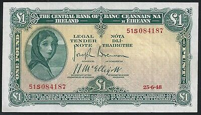 Lady Lavery £1 note - 1948 - Higher Grade