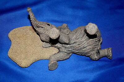"""The Herd Collection """"murphy's Law The Elephant"""" Figurine By Martha Carey"""