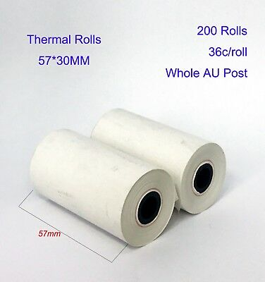 10/50/100/200 Pcs 57x30mm Eftpos Rolls Thermal Paper Cash Register Receipt