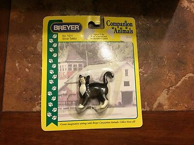 Breyer Companion Animal Silver Tabby #1511 cat